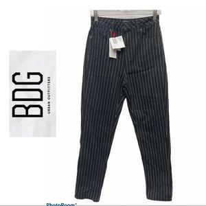 BDG Black Stripe Print Mom Jeans